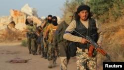 Сириядағы «Әл-Нусра майданы» адамдары. (Көрнекі сурет)