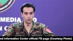 روحالله احمدزی، سخنگوی وزارت دفاع افغانستان