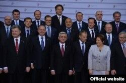 """Участники саммита """"Восточного партнерства"""" в Риге"""