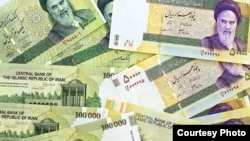 Piles of Iran's depreciating currency