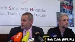 Dragutin Lesar i sindikalac Krešimir Sever