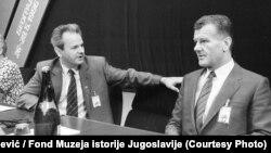Slobodan Milošević i Ivan Stambolić 1986. godine na 10 kongresu Saveza komunista Srbije