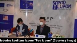 "Pres-konferencija Koalicije ""Pod lupom"" u Travniku nakon izbora u Travniku i Foči-Ustikolini (11. april)"