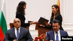 Подписването на договора за приятелство и добросъседство между България и Северна Македония на 1 август 2018 г.