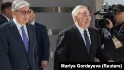 Президент Казахстана Касым-Жомарт Токаев и бывший президент Нурсултан Назарбаев.