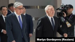 Касым-Жомарт Токаев менен Нурсултан Назарбаев.