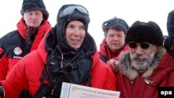 Князь Монако Альбер II на Северном полюсе