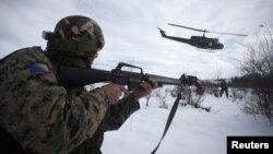 Oružane snage BiH tokom vojne vježbe na Manjači 2012.