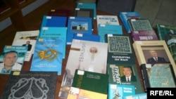 Президент Нұрсұлтан Назарбаевтың кітаптары. Көрнекі сурет.