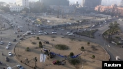 Pamje e sheshit Tahrir në kryeqytetin Kajro në Egjipt