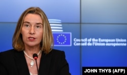 EU foreign policy chief Federica Mogherini has come in for criticism in the European Values statement. (file photo)
