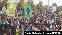 Протест против загадувањето на воздухот во Тетово.