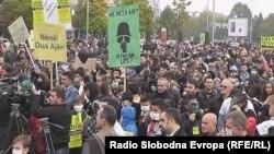 Илустрација: Протест против загадувањето на воздухот во Тетово.