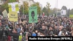 Protesta kundër ndotjes së ajrit në Tetovë