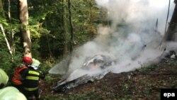 На месте падения одного из самолетов