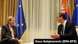 Јоханес Хан и Александар Вучиќ