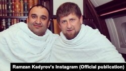 Мохмад Ахмадов и глава республики Рамзан Кадыров во время хаджа