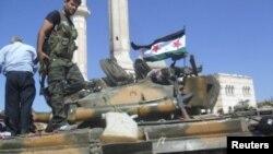 Бойцы Свободной сирийской армии в провинции Алеппо