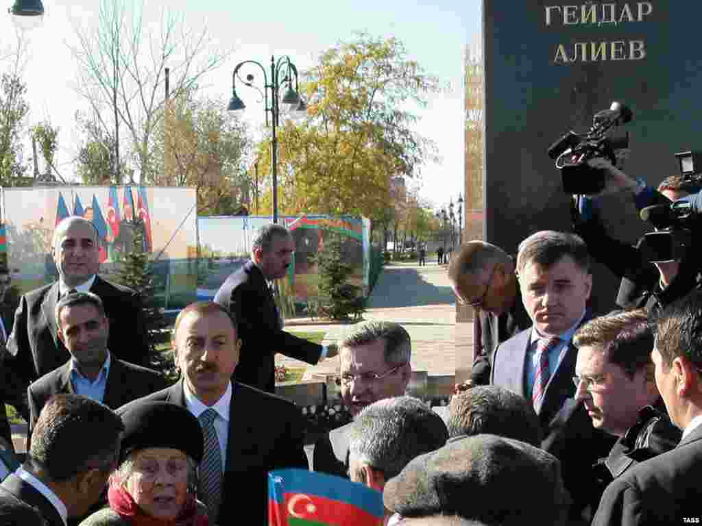 A monument to Aliyev has also been erected in Astrakhan, Russia.