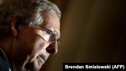 Автор законопроекта о новых санкциях против Сирии, сенатор-республиканец Митч Макконнелл.