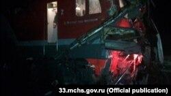 Столкновение поезда и автобуса под Москвой (архивное фото)
