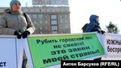 Жители Новосибирска требуют отменить строительство шоссе через лес