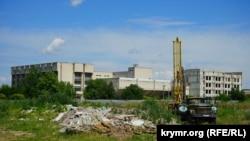 Место будущего строительства корпусов Крымского федерального университета возле микрорайона «Крымская роза»