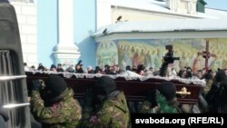 Цырымонія разьвітаньня зь Міхаілам Жызьнеўскім у Кіеве 26 студзеня 2014