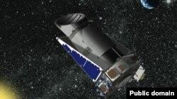 "NASA-nyň 2009-njy ýylda uçuran ""Kepler"" kosmos teleskopynyň kompýuter modeli."