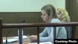 Мария на заседании суда