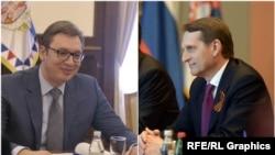 Aleksandar Vučić i Sergej Nariškin