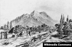 Jeloznovodsk yaxınlığında Beştau mənzərəsi, 1837