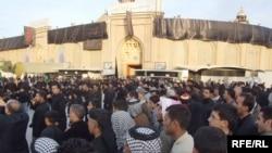 Shi'ite Muslim pilgrims are marking the Ashura commemoration in Kerbala, Iraq.