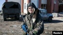 Дебальцево маңындағы ресейшіл сепаратист. Украина, 17 ақпан 2015 жыл.