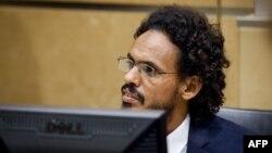 Ахмад аль-Махди в зале суда МУС, сентябрь 2015 г.