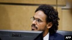 Исламистский лидер Ахмад аль-Махди на процессе в Международном уголовном суде.