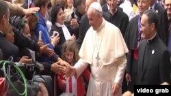 Папа римский Франциск в Баку