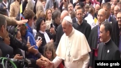 Папа римский Франциск в Баку.