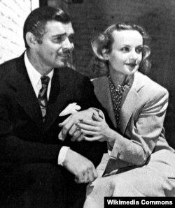 Clark Gable və sevimli arvadı Carole Lombard, 1939-cu il.