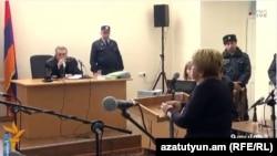 Pamje nga dëgjimi i sotëm i ushtarit rus në Gyumri
