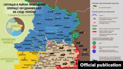 Донбасстагы абалды сүрөттөгөн карта. 22-июль 2020-жыл