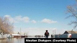 Село Кызылкой Карагандинской области, 30 марта 2019 года. Фото блогера Айсултана Жакыпова из Facebook'а.