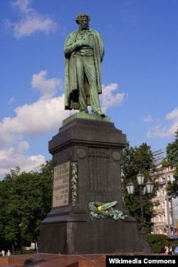 Аляксандар Апякушын. Помнік Аляксандру Пушкіну. Масква.