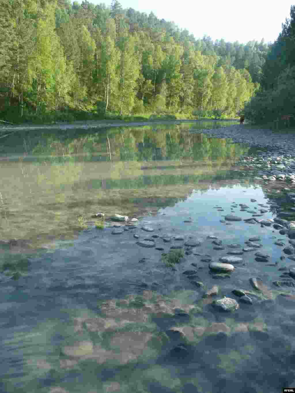 Russia – Altay region, river, landscape, boat, rafting, forest, 10Jun2008