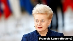 "Lithuania's President Dalia Grybauskaite: ""This is the last millstone tied to our feet."""