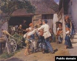 Фэрдынанд Георг Вальдмюлер, «Вяртаньне ў бацькоўскі дом» (1855)