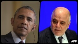 Barack Obama (solda) və Haidar al-Abadi