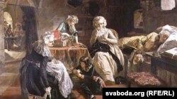 Эдвард Мэт'ю Ўорд, «Каралеўская сям'я Францыі ў турме ў 1792» (1851)