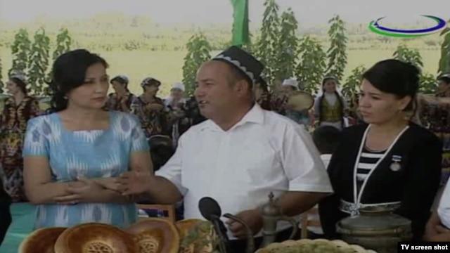 Скриншот одной из программ первого  телеканала Узбекистана