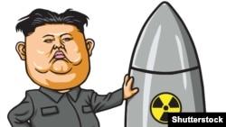 Политическая карикатура. Ким Чен Ын
